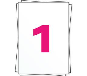 Afbeelding van A4 Stickerbögen, 1 pro Bogen, weiß, permanent, 210mm x 296mm