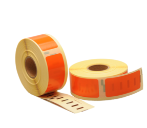 Dymo 11352 kompatible Etiketten, 54mm x 25mm, 500 Etiketten, orange, permanent