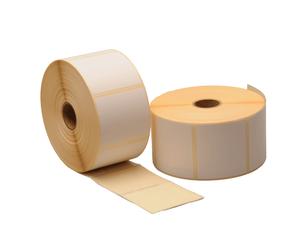 Blanko Etiketten auf Rolle